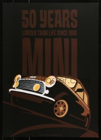 9c291 MINI 20x28 special poster 2009 really cool art of the car by Lasse Bauer!