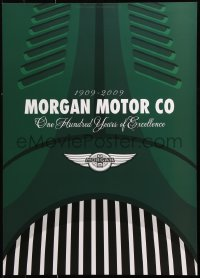 9c293 MORGAN MOTOR COMPANY 20x28 special poster 2009 artwork of fancy hood logo by Lasse Bauer!