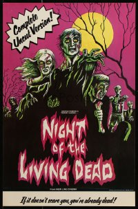 9c294 NIGHT OF THE LIVING DEAD 11x17 special poster R1978 George Romero zombie classic, New Line!