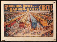 9c297 RINGLING BROS & BARNUM & BAILEY CIRCUS 16x21 special poster 1981 from Dynamite magazine!