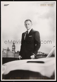 9c301 SKYFALL IMAX 14x20 special poster 2012 image of Daniel Craig as Bond, newest 007!
