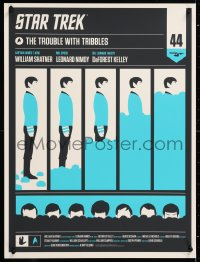 9c071 STAR TREK #176/350 18x24 art print 2010 Olly Moss art for The Trouble with Tribbles, Mondo!