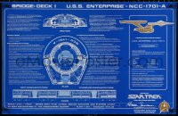 9c305 STAR TREK VI 23x35 special poster 1991 Starship Enterprise NCC-1701-A, Collector's Edition!