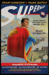 9c307 SUPERMAN 22x34 Canadian special poster 2005 comic superhero, Superman, DC All Stars!