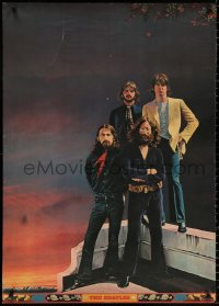 9c308 TADANORI YOKOO 29x41 Japanese special poster 1970s cool very different portrait of The Beatles!