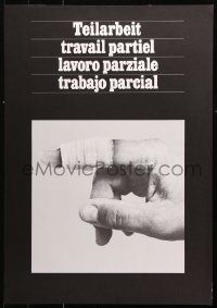9c309 TEILARBEIT 19x28 special poster 1970s image of a cut finger, partial work!