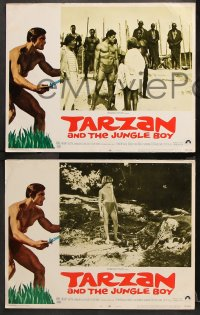 9g362 TARZAN & THE JUNGLE BOY 8 LCs 1968 could Mike Henry find him in the wild jungle?