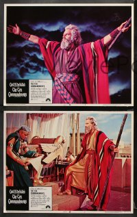 9g364 TEN COMMANDMENTS 8 LCs R1972 Charlton Heston as Moses, Cecil B. DeMille epic classic!