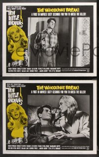 9g365 TEN LITTLE INDIANS 8 LCs 1966 Agatha Christie, sexy Shirley Eaton seduces Hugh O'Brian!