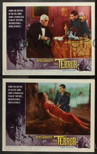 9g367 TERROR 8 LCs 1963 Roger Corman, great images of Boris Karloff and young Jack Nicholson!