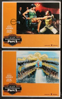 9g369 THAT'S ENTERTAINMENT PART 2 8 LCs 1975 Fred Astaire, Gene Kelly & many MGM greats!