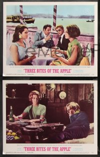 9g372 THREE BITES OF THE APPLE 8 LCs 1967 David McCallum, Sylvia Koscina, roulette gambling image!