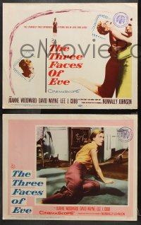 9g373 THREE FACES OF EVE 8 LCs 1957 David Wayne, Joanne Woodward has multiple personalities!
