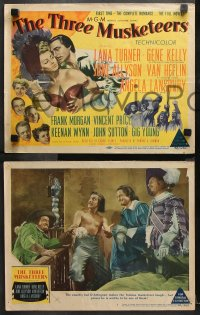 9g374 THREE MUSKETEERS 8 LCs 1948 Lana Turner as the wicked Lady De Winter caught in her own trap!