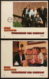 9g377 THUNDERBOLT & LIGHTFOOT 8 LCs 1974 Clint Eastwood, Jeff Bridges, George Kennedy, Cimino!