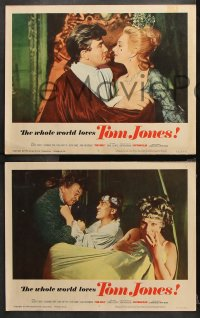 9g379 TOM JONES 8 LCs 1963 Susannah York, the whole world loves Albert Finney, & he loves & loves...
