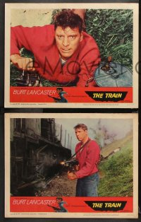 9g383 TRAIN 8 LCs 1965 Burt Lancaster, John Frankenheimer World War II classic!
