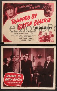9g384 TRAPPED BY BOSTON BLACKIE 8 LCs 1948 great images of detective Chester Morris in title role!