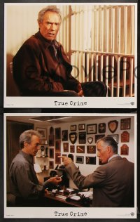 9g385 TRUE CRIME 8 LCs 1999 great images of director & journalist Clint Eastwood!