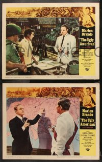9g388 UGLY AMERICAN 8 LCs 1963 Marlon Brando in his most powerful role, Eiji Okada