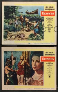 9g389 ULYSSES 8 LCs 1955 great images of bearded Kirk Douglas & sexy Silvana Mangano!