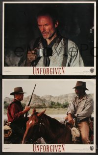 9g394 UNFORGIVEN 8 LCs 1992 Clint Eastwood, Gene Hackman, Morgan Freeman, Richard Harris