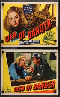 9g400 WEB OF DANGER 8 LCs 1947 sexy Adele Mara, Bill Kennedy, Damian O'Flynn, Philip Ford!