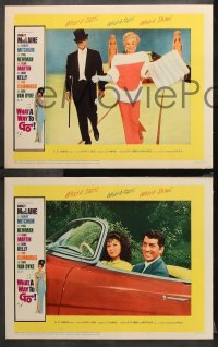 9g401 WHAT A WAY TO GO 8 LCs 1964 Shirley MacLaine, Robert Mitchum, Dean Martin, Dick Van Dyke!