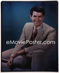 9h003 ANTHONY PERKINS 16x20 transparency 1960s wonderful seated portrait wearing suit & tie!
