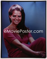 9h006 CLAUDIA CARDINALE 16x20 transparency 1960s seated smiling portrait of the beautiful actress!