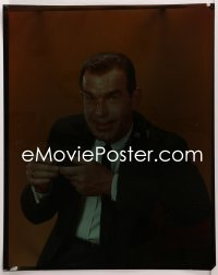 9h011 FRED MACMURRAY 16x20 transparency 1960s great close portrait holding tobacco pipe!