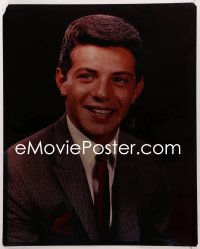 9h020 FRANKIE AVALON 16x20 transparency 1960s head & shoulders portrait of the teen singing idol!