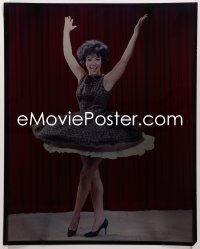 9h023 RITA MORENO 16x20 transparency 1960s full-length twirling her skirt with hands in the air!