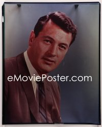 9h024 ROCK HUDSON 16x20 transparency 1960s head & shoulders portrait of the handsome leading man!