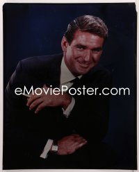9h025 ROD TAYLOR 16x20 transparency 1960s smiling portrait of the handsome leading man in suit!