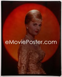 9h026 MARTHA HYER 16x20 transparency 1950s beautiful close portrait in pearls & sparkling dress!