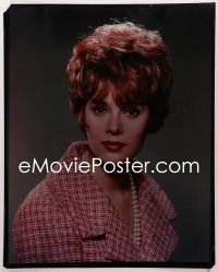 9h016 JILL ST. JOHN 16x20 transparency 1960s pretty head & shoulders portrait wearing pearls!