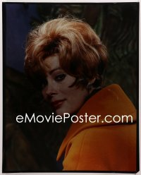9h015 JILL ST. JOHN 16x20 transparency 1960s pretty head & shoulders portrait in orange sweater!