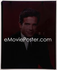 9h032 WARREN BEATTY 16x20 transparency 1960s handsome head & shoulders portrait in suit & tie!