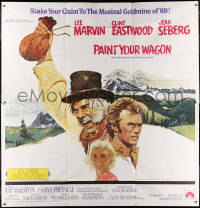 9x023 PAINT YOUR WAGON int'l 6sh 1969 Ron Lesser art of Clint Eastwood, Lee Marvin & Jean Seberg!