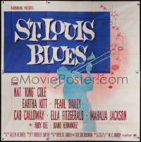 9x024 ST. LOUIS BLUES 6sh 1958 Nat King Cole, the life & music of W.C. Handy, great large image!