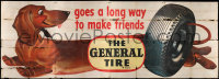 9x014 GENERAL TIRE billboard 1951 goes a long way to make friends, artwork of really cute dog!