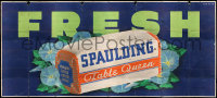 9x011 SPAULDING TABLE QUEEN billboard 1940s cool art of the bread on a bed of flowers, fresh!