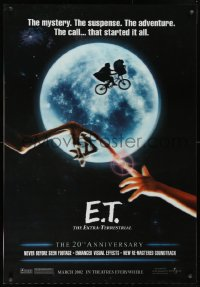 9x003 E.T. THE EXTRA TERRESTRIAL lenticular 1sh R2002 Drew Barrymore, Spielberg, bike over the moon!