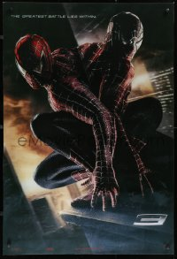 9x005 SPIDER-MAN 3 lenticular 1sh 2007 Raimi, the battle within, Maguire, black/red suits!