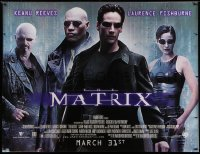 9x196 MATRIX subway poster 1999 Keanu Reeves, Carrie-Anne Moss, Laurence Fishburne, Wachowskis!