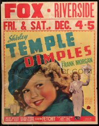 9x036 DIMPLES jumbo WC 1936 great close-up and full-length image of Shirley Temple, ultra-rare!