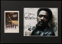 9y008 RICHARD ROUNDTREE signed color 8x10 REPRO still in 12x17 matted display 1973 ready to frame!