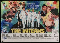 9y028 INTERNS signed British quad 1962 by Michael Callan, great art by Howard Terpning!