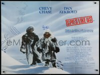 9y029 SPIES LIKE US signed British quad 1986 by Dan Aykroyd, who's with Chevy Chase, John Landis